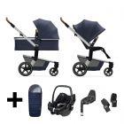 Joolz Kinderwagen 3 in 1 Hub+ Classic Blue + Autostoel + Adapterset + Base + Voetenzak