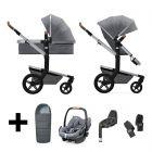 Joolz 2 In 1 Kinderwagen Day+ Gorgeous Grey + Maxi Cosi Autostoel + Adapterset + Base + Voetenzak