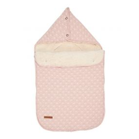 Little Dutch Voetenzak Autostoel 0+ Lily Leaves Pink
