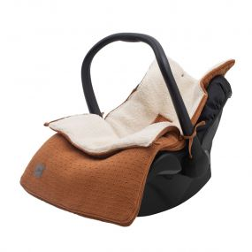 Jollein Voetenzak Groep 0+ Autostoel 3/5 Punts Bliss Knit Caramel