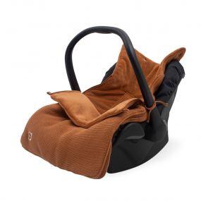 Jollein Voetenzak Groep 0+ Autostoel 3/5 Punts Basic Knit Caramel
