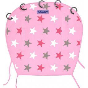 Dooky Zonnescherm Baby Roze Ster