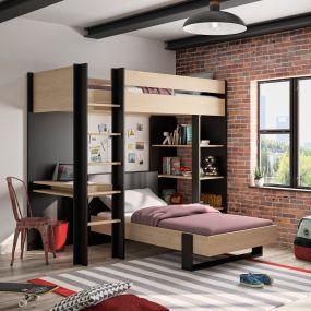 Gami Hoogslaper Met Tienerbed Duplex 90 x 200 cm