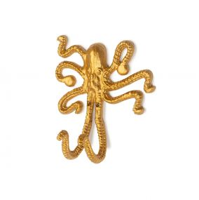 KidsDepot Wandhaak Okki Octopus Goud