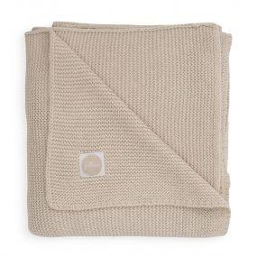 Jollein Deken Ledikant 100 x 150 cm Basic Knit Nougat