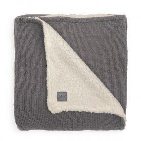Jollein Teddy Deken Wieg 75 x 100 cm Bliss Knit Storm Grey