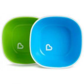 Munchkin Bordjes Met Vak Splash 2-Stuks Groen/Blauw