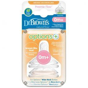 Dr. Brown's Options + Speen Prematuur Breed (2 Stuks)