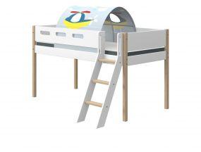 Flexa Nor Halfhoogslaper Schuine Ladder + Speeltent Transport 90 x 200 cm