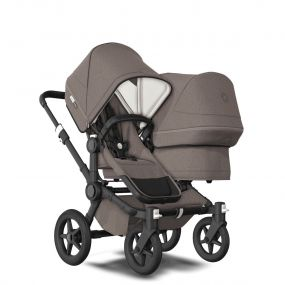 Bugaboo Duo Kinderwagen Donkey3 Black - Mineral Taupe