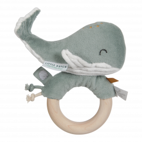 Little Dutch Ringrammelaar Walvis Ocean Mint