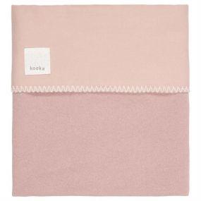 Koeka Ledikantdeken Runa Flanel Old Pink 100 x 150 cm