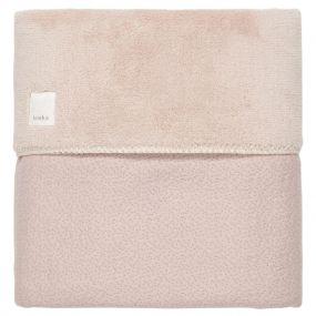 Koeka Ledikantdeken Riga Grey-Pink Teddy Gevoerd 100x150