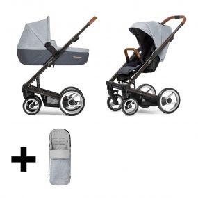 Mutsy Kinderwagen 2 in 1 I2 Pure Black Cloud + Gratis Voetenzak