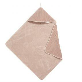 Koeka Omslagdoek Vik Teddy Grey Pink 100x100