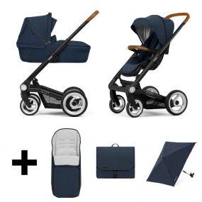 Mutsy Kinderwagen Icon 2 in 1 Balance Indigo Black + Gratis Voetenzak + Verzorgingstas + Parasol