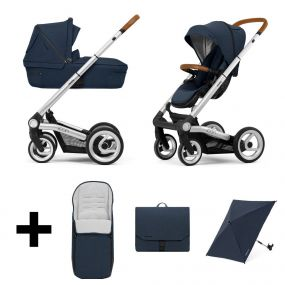 Mutsy Kinderwagen Icon 2 in 1 Balance Indigo Standard + Gratis Voetenzak + Verzorgingstas + Parasol