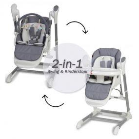 Topmark Xavi 2-in-1 Kinderstoel / Babyswing Grey