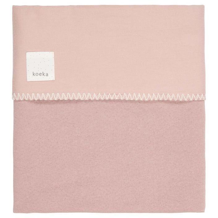 Koeka Wiegdeken Runa Flanel Old Pink 75 x 100 cm