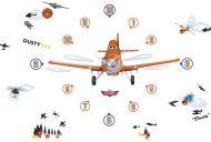 Planes Tick Tock Clock