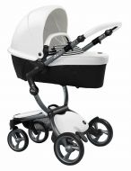 Mima Kinderwagen Xari Graphite Grey - Snow White