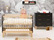Bopita Babykamer 2 Delig Floris Mat Zwart Naturel