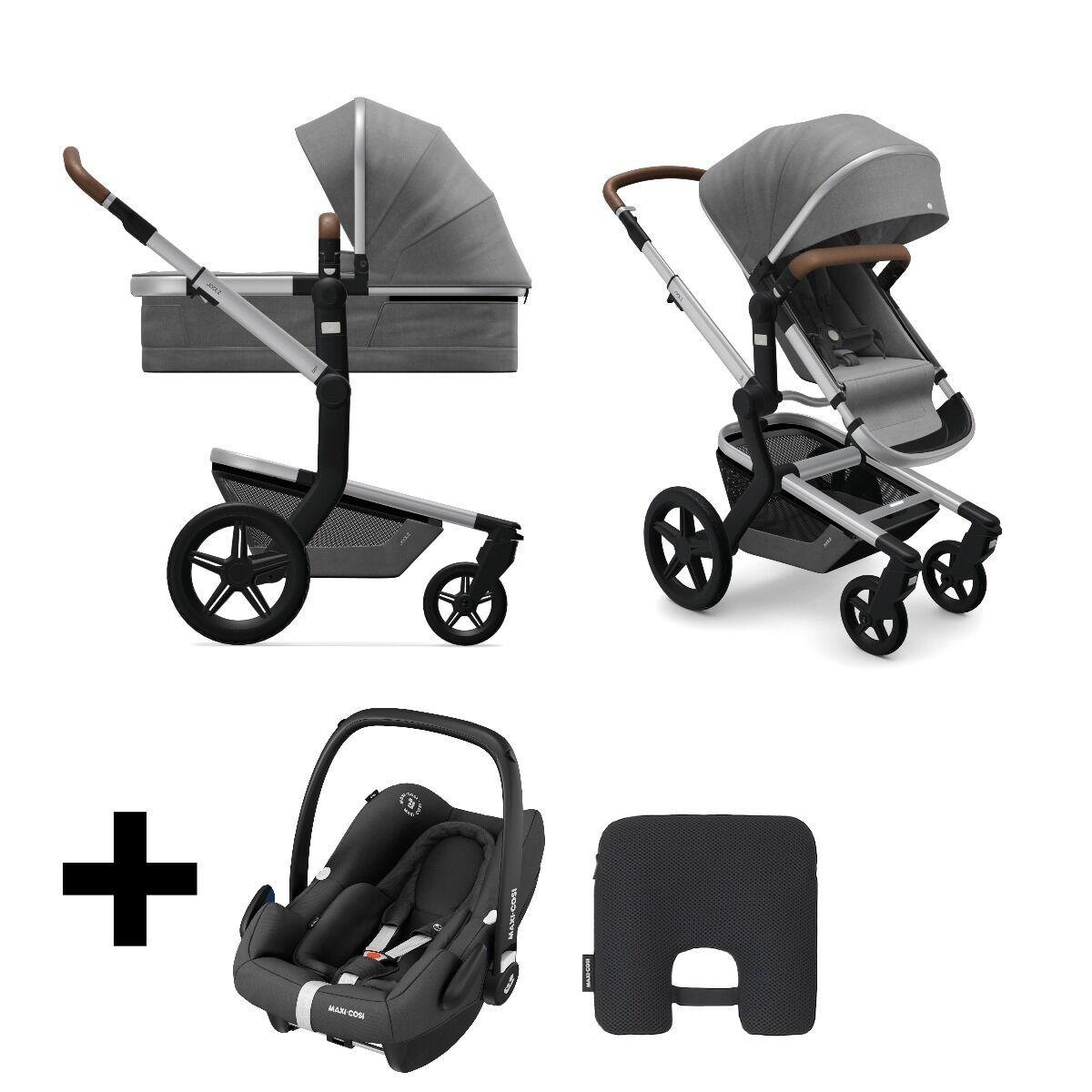 Joolz  2 in 1 Kinderwagen Day + Radiant Grey + Maxi Cosi Autostoel Black + Maxi Cosi E safety Cushion
