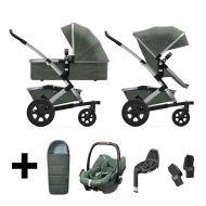 Joolz Kinderwagen 3 in 1 Geo2 Marvellous Green + Autostoel + Adapterset + Base + Voetenzak