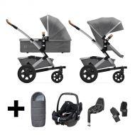 Joolz Kinderwagen 3 in 1 Geo2 Radiant Grey + Autostoel + Adapterset + Base + Voetenzak