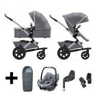 Joolz Kinderwagen 3 in 1 Geo2 Gorgeous Grey + Autostoel + Adapterset + Base + Voetenzak