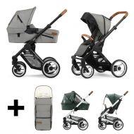 Mutsy Kinderwagen Evo 2 In 1 Urban Nomad Light Grey Black + Gratis Voetenzak + Regenhoezen