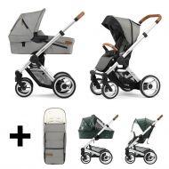Mutsy Kinderwagen Evo 2 In 1 Urban Nomad Light Grey Standard + Gratis Voetenzak + Regenhoezen