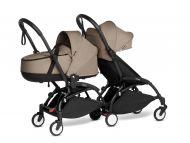 Babyzen Duo Kinderwagen YOYO Connect Black/Taupe