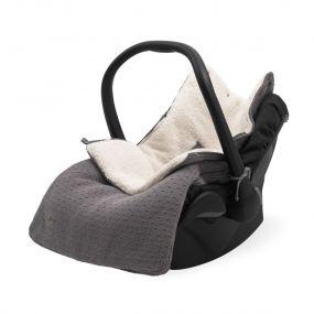 Jollein Voetenzak Groep 0+ Autostoel 3/5 Punts Bliss Knit Storm Grey