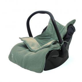 Jollein Voetenzak Groep 0+ Autostoel 3/5 Punts Basic Knit Forest Green