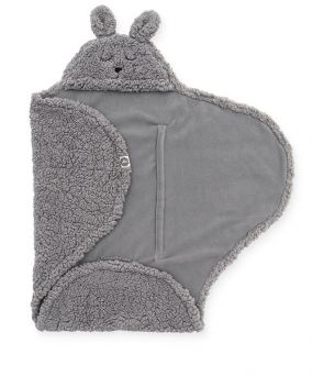 Jollein Wikkeldeken Bunny Storm Grey 100 x 105 cm