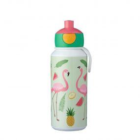 Mepal Drinkfles Pop Up Campus Tropical Flamingo 400 ml