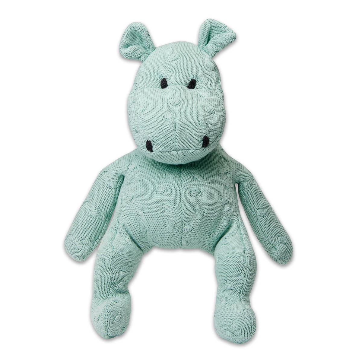 Baby's Only Nijlpaard 40 cm Uni Kabel Mint