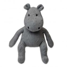 Baby's Only Nijlpaard 40 cm Uni Kabel Lichtgrijs