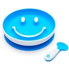Munchkin Bord Met Lepel Smile 'N Scoop Blauw