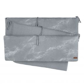 Baby's Only Boxbumper Marble - Silver Grey