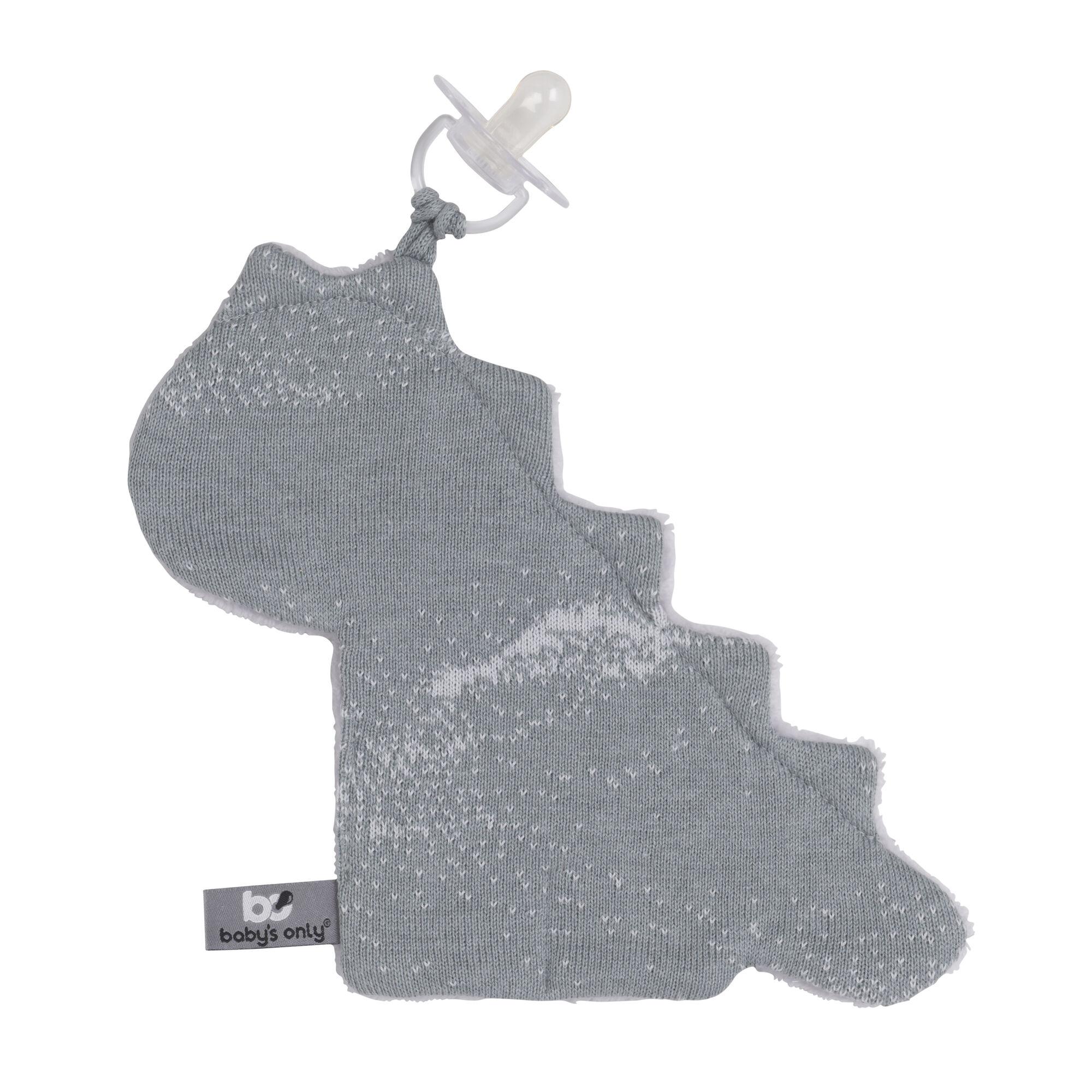 Baby's Only Speendoekje Dino Marble - Silver Grey