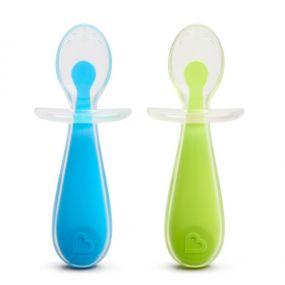 Munchkin Gentle Silicone Lepels Groen Blauw