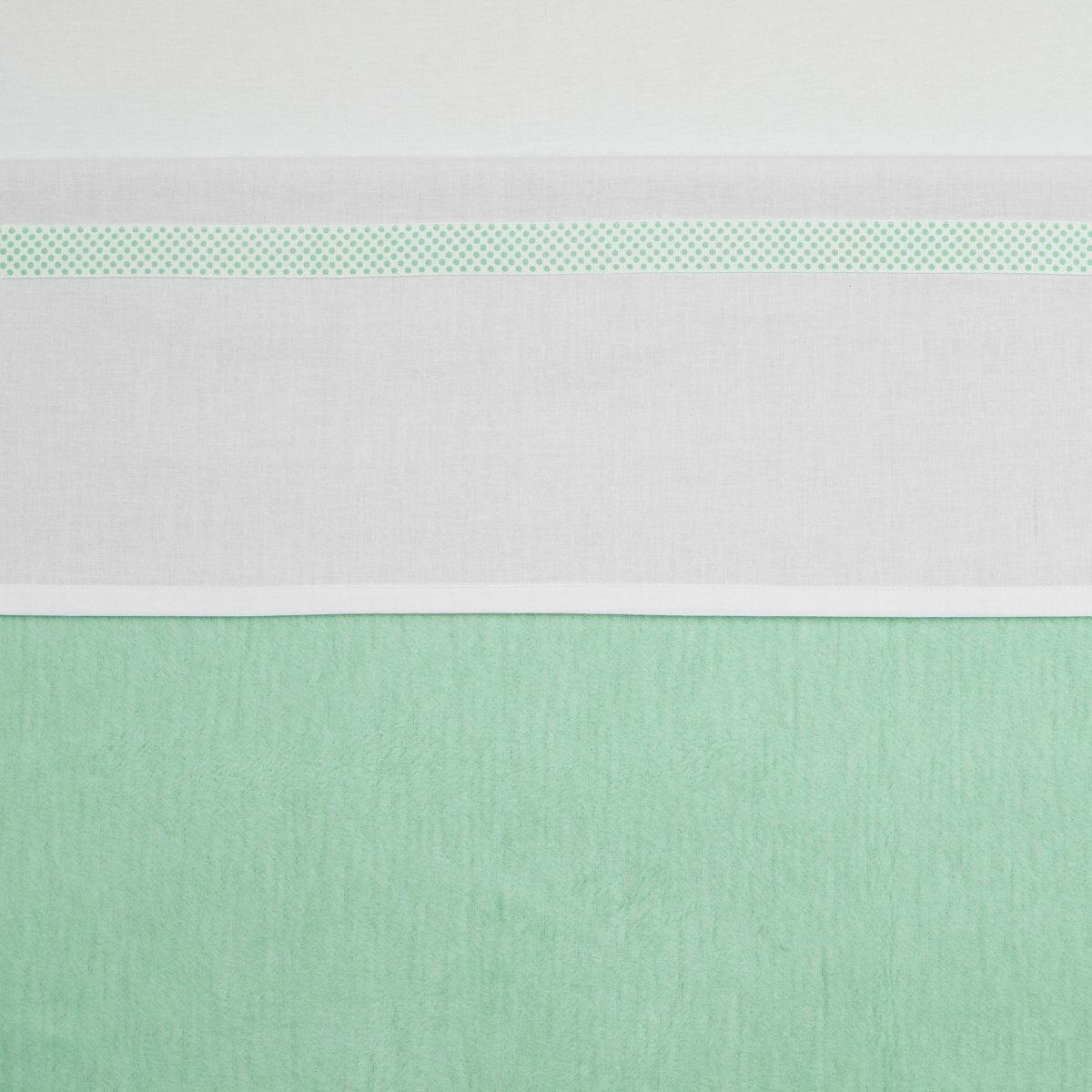 Meyco Ledikantlaken Bies Stip New Mint 100 x 150 cm