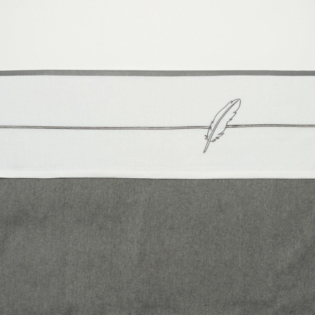 Meyco Ledikantlaken Feathers Grijs 100 x 150 cm