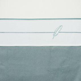 Meyco Ledikantlaken Feathers Stone Green 100 x 150 cm