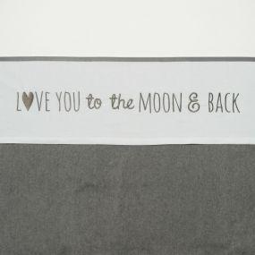 Meyco Ledikantlaken Love You To The Moon & Back 100 x 150 cm