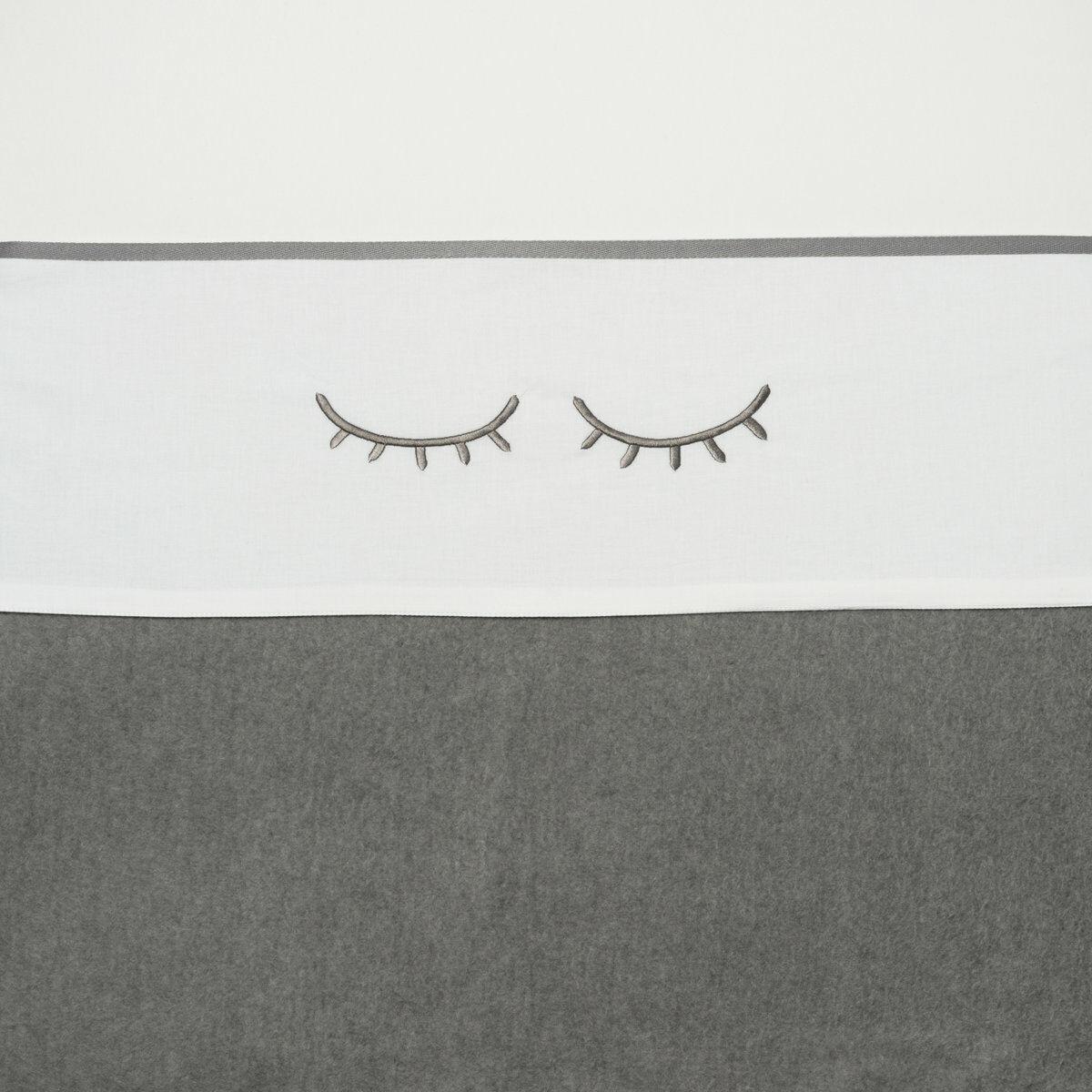 Meyco Ledikantlaken Sleepy Eyes Grijs 100 x 150 cm