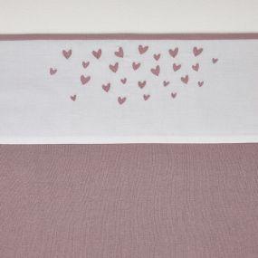 Meyco Ledikantlaken Hearts Lilac 100x150 cm