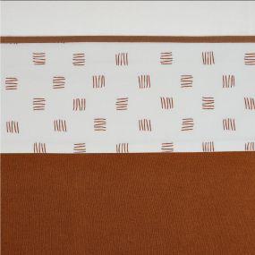 Meyco Wieglaken Block Stripe Camel 75 x 100 cm
